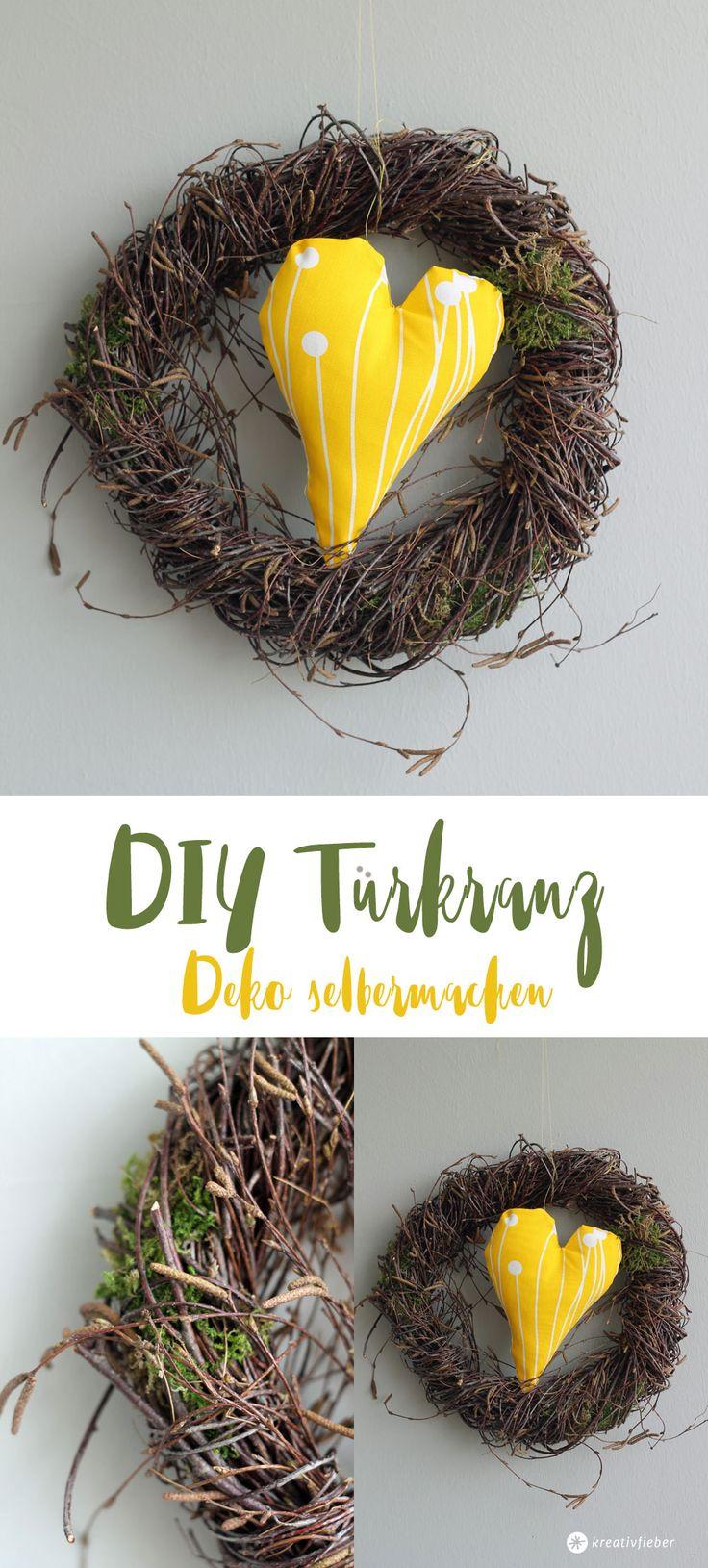 DIY Türkranz - einfache DIY Deko selbermachen - Osterdeko