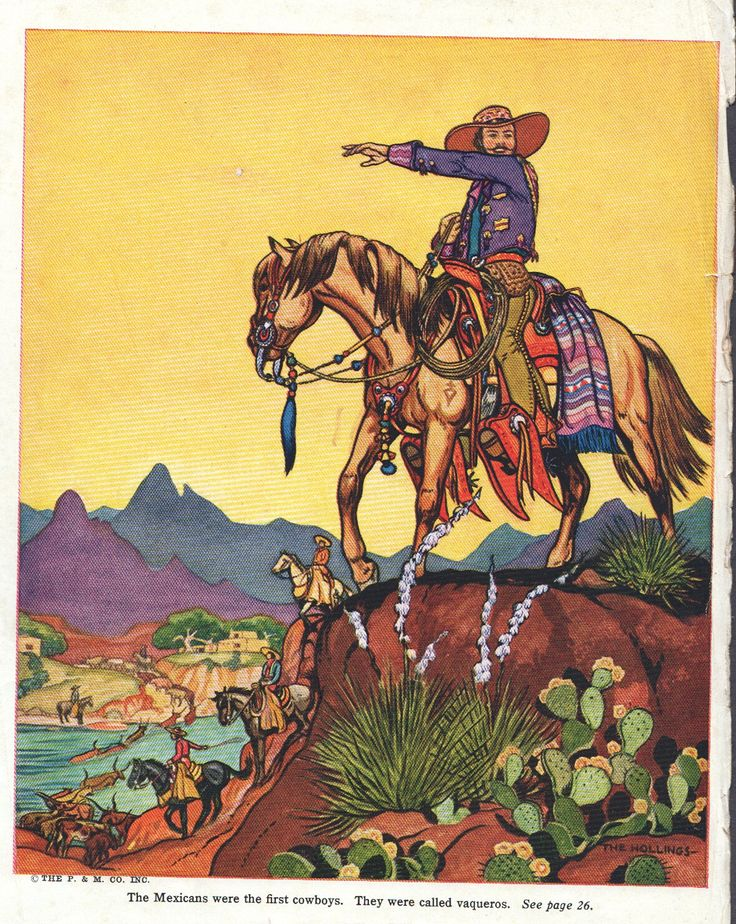 Mexican cowboy print western decor, cowboy and indian decor, wild west