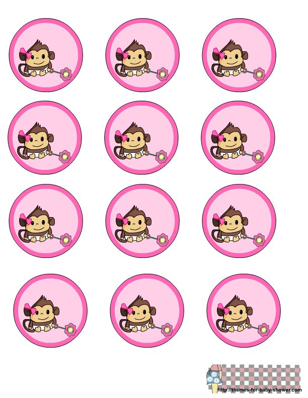 Monkey Girl Ballarina Baby Shower | Free Printable Labels For Girl Monkey  Themed Baby Shower