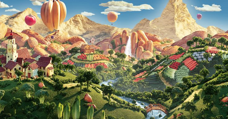 A wondrous world, where everything is food and the food is as it should be. Or…