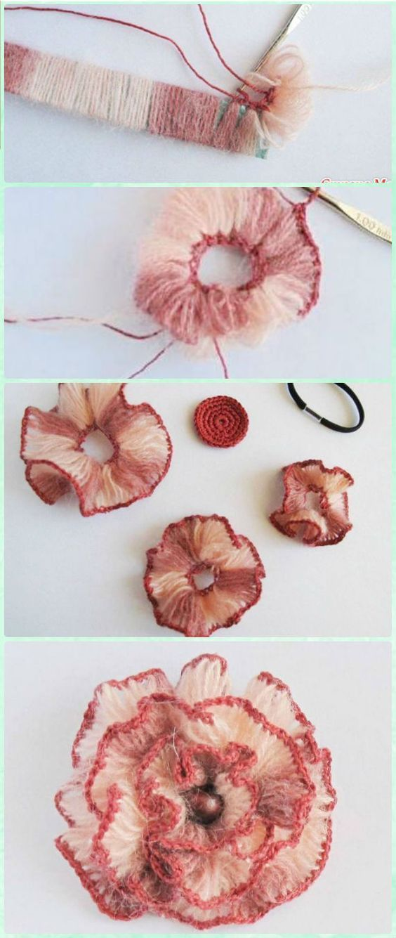 This post was discovered by Jo | Flores crochet | Pinterest | Flores ...