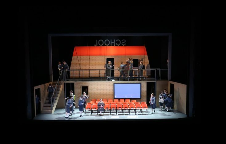 'Nothing' - Youth Opera production at Glyndebourne. We constructed a revolving set featuring three different scenes.