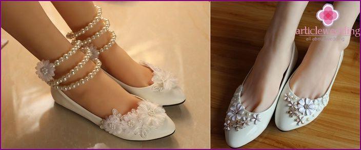 Svatební boty bez podpatku v roce 2015 - který model si vybrat, fotky