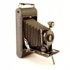 Vintage Kodak 1-A Pocket Folding Camera in Black (c.1910s)