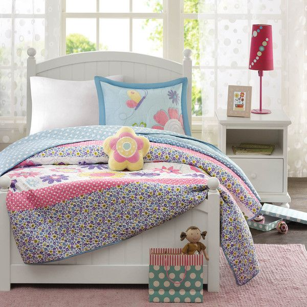 Mi Zone Kids Blooming Butterflies Coverlet Set - Overstock™ Shopping - The Best Prices on Mi-Zone Kids' Quilts