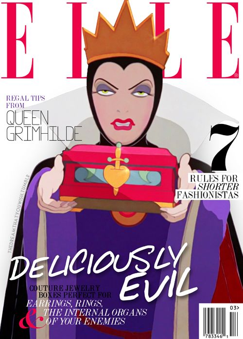 The (long due) next cover in my series of Disney Villain magazines, inspired by PetiteTiaras.