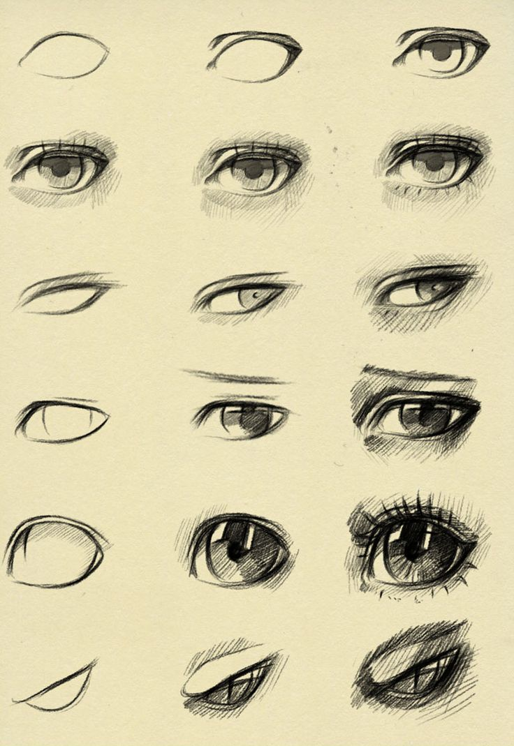 Eyes Reference By Ryky Paint Draw Resource Tool How To Tutorial  Instructions  Create Your Own