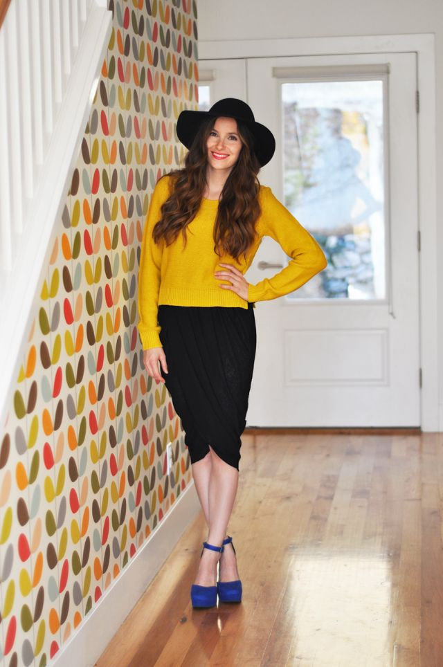 Do I dare learn to use a sewing machine?? C: The 4 step - draped tulip wrap skirt tutorial