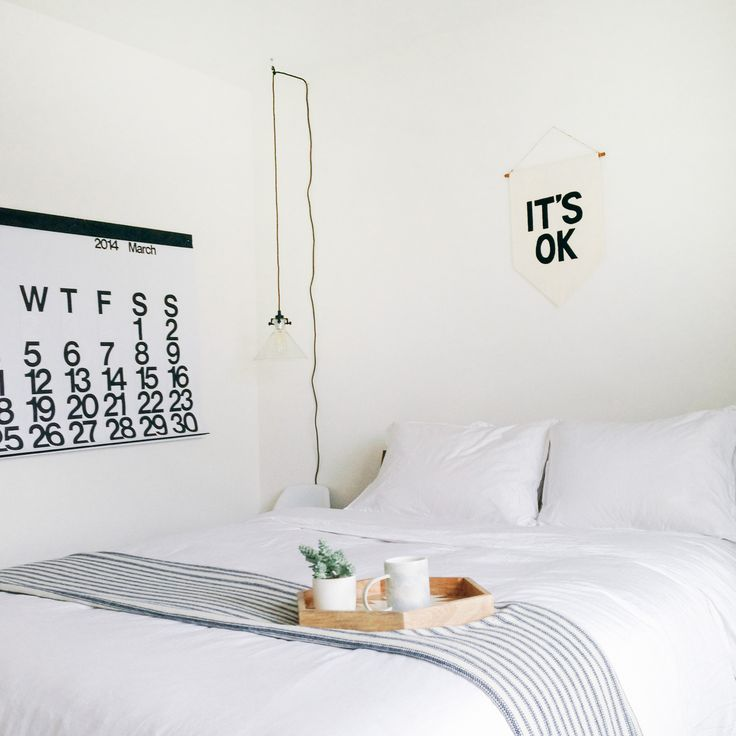 Bedroom via the blog Wit & Delight.
