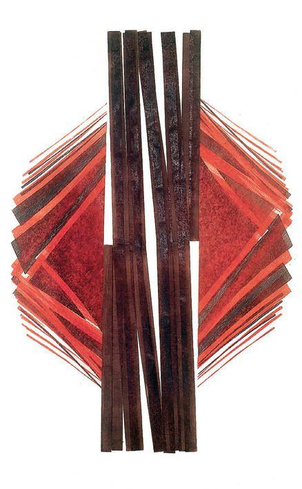 Title unknown by Italian-born Brazilian artist & printmaker Maria Bonomi (b.1935). Woodcut. via Persephone