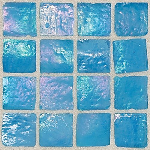 Daltile - Iridescent turquoise ocean blue wall tile - Would look beautiful in a shower
