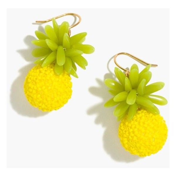 J.Crew Pineapple Earrings (672.520 IDR) ❤ liked on Polyvore featuring jewelry, earrings, earring jewelry, summer earrings, evening jewelry, special occasion jewelry and j crew jewellery