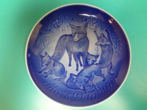 Fox Kits in The Woods Plate B G Mors Dag 1979 Mother's Day Denmark Vintage   eBay