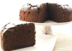 Bizcocho húmedo de chocolate (1 sobre y medio de Royal Y 1 h 20 min de horneado). si hago la mezcla para 250 g de chocolate, hornear 50 min.(en dos moldes)