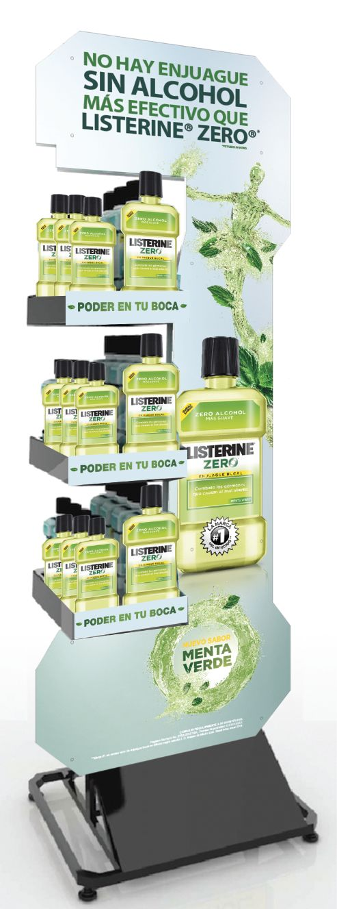 Floor Display Listerine Menta Verde.