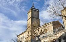 Big photo Saint Quentin-la-Poterie clock tower with campanile, village center