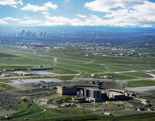 Aerial view of Calgary International Airport. - Image - Airport Technology