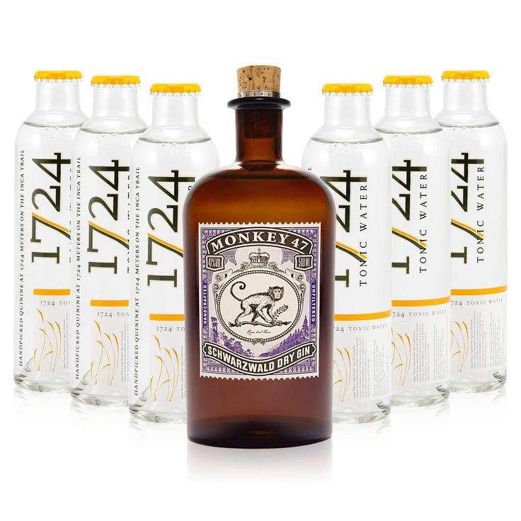 Gin & Tonic Set LIV (Monkey 47 + 1724 Tonic) - Monkey 47 - Gin & Tonic Sets