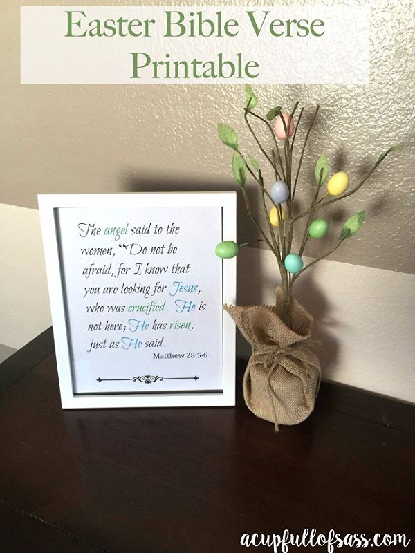 Free Easter Bible verse printable