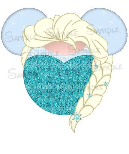Elsa inspired Mickey Head digital printable file DIY on Etsy, $3.00