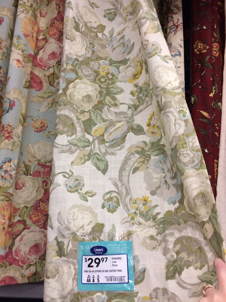 Waverly curtains at Lowes