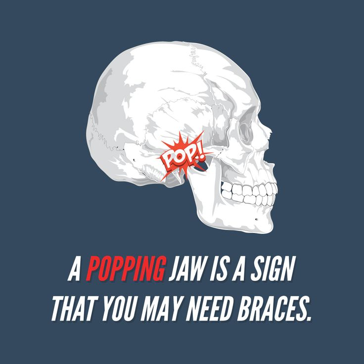 POPPING NOISES in your jaw? They could be the sign of developing orthodontic problems. Call us for a consultation!  Palm Valley Pediatric Dentistry