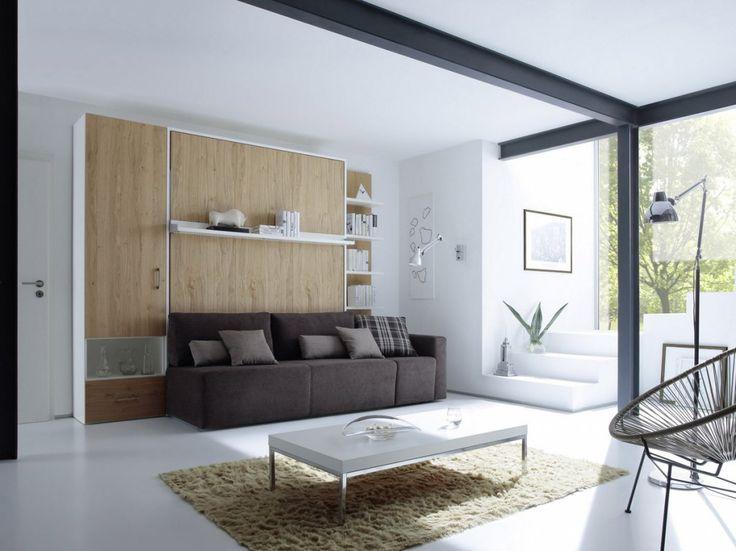 Die besten 25 wandbett ideen auf pinterest murphy bett b ro murphy betten und schrankbett - Wandbett mit sofa ...