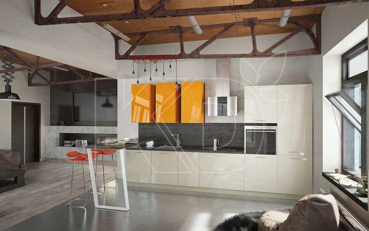 Кухня Эмма - купить кухню в стиле модерн, цена, фото в каталоге «Кухонный Двор»