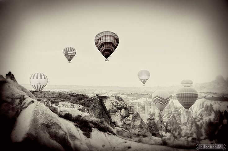 A new favorite - Vintage hot air balloon photo from the Flight of Fancy photo essay.