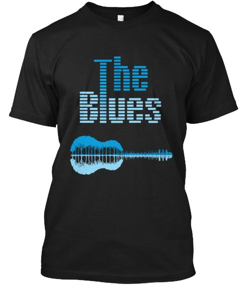 The Blues Music Black T-Shirt Front
