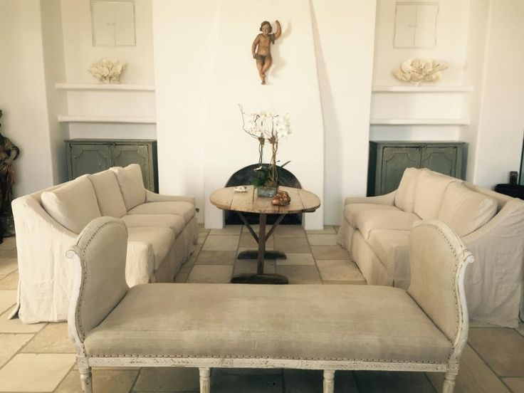 Gorgeous Houston Home Interior Featuring Quatrine New Grace Slipcovered  Sofas.