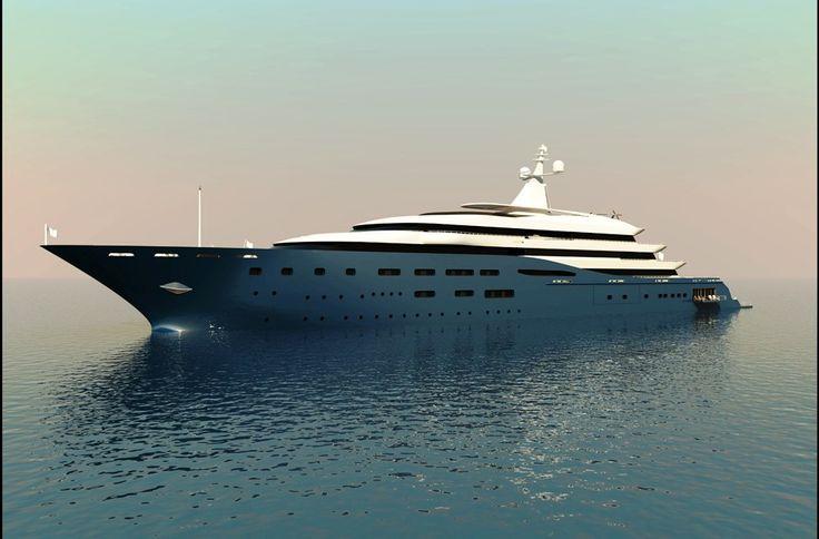 Luxury motor yacht 133 mt by Aldo Cichero