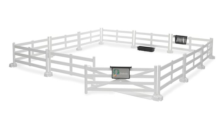 White Pasture Fence for horses by Bruder 7.7 x 7.7 x 3.2 tall Toy Toys