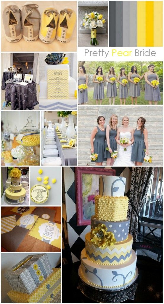 {Color Inspiration} Yellow and Grey | Pretty Pear Bride