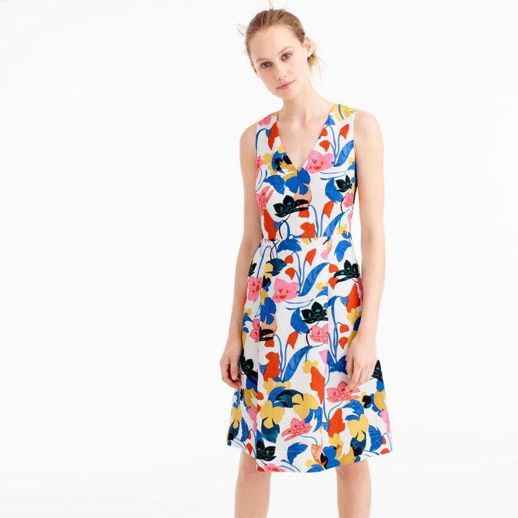 woman wearing floral smart casual dress