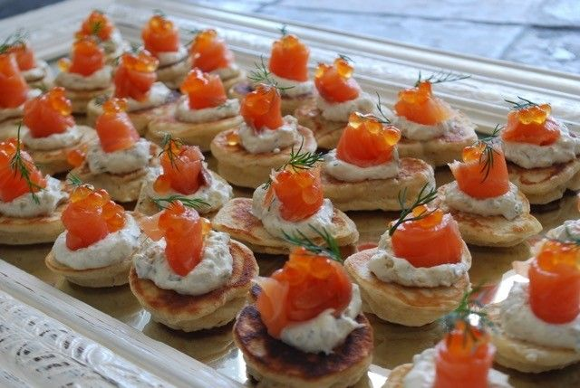 Smoked Salmon Caper Cream on Blini - canapés ready for our guests tonight. #canapes #cocktailparty #entertainingwithfigmint #celebrations #figmintcatering #sydneycaterer