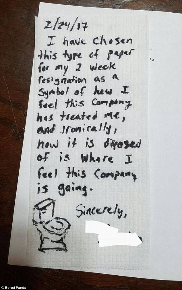 Online gallery captures hilarious resignation letters somewhat amusing