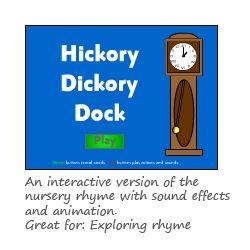 Hickory Dickory Dock Phase 1 phonics