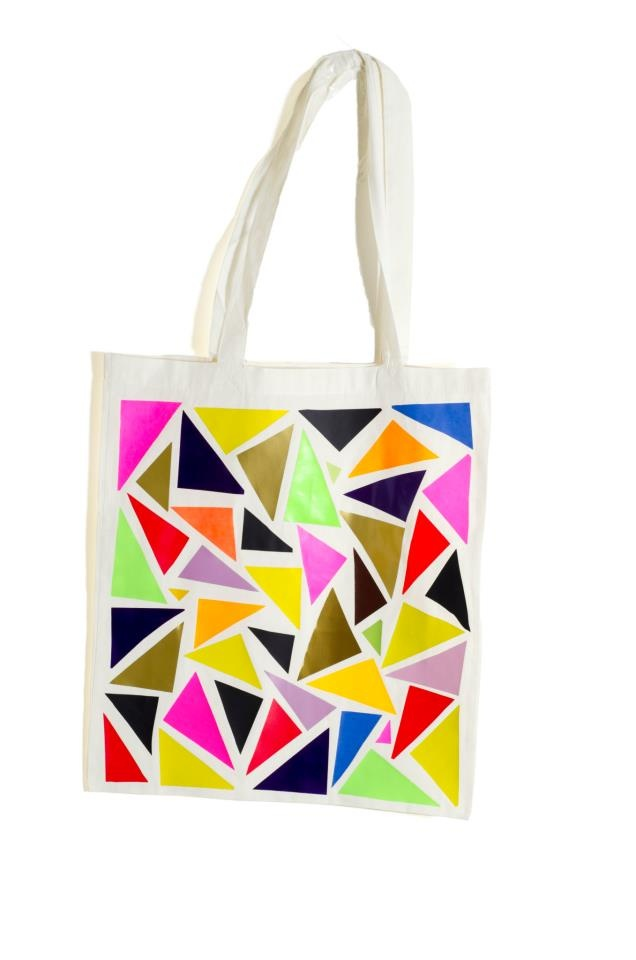 Ecru Tote Bag Design : Triangles
