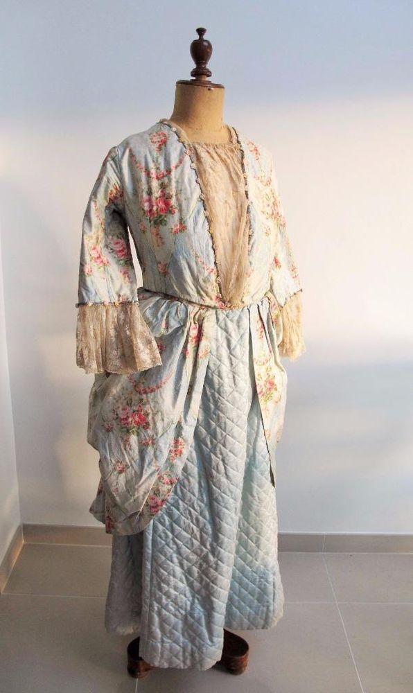 ANTIQUE VICTORIAN LADIES FANCY DRESS COSTUME - 18th CENTURY DRESS GOWN c1900