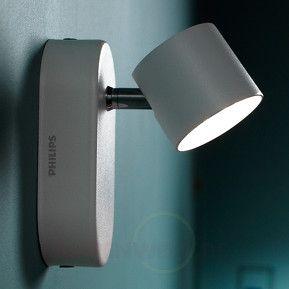 Weiße LED-Wandleuchte Star schwenkbar