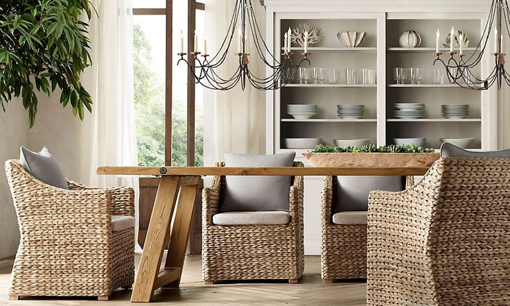 Beach Style Dining Sets: Stunning. Casual, Rustic Dining Table, Comfortable Beach