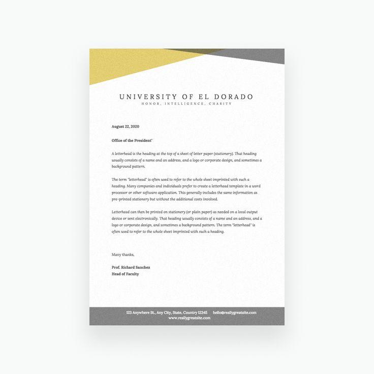 Free Online Letterhead Maker With Stunning Designs Canva Regarding Headed Letter Template Word Sample Professional Template Kurumsal Kimlik