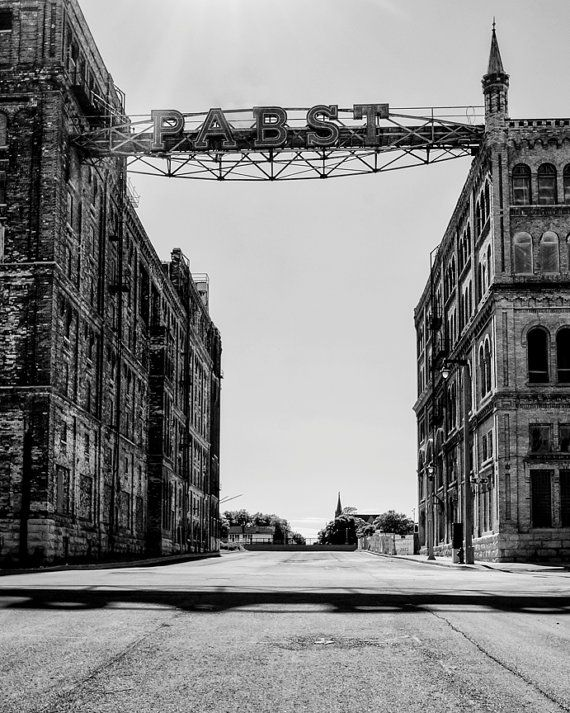 Milwaukee photography pabst factory black white photograph old milwaukee wisconsin 8x10 photo