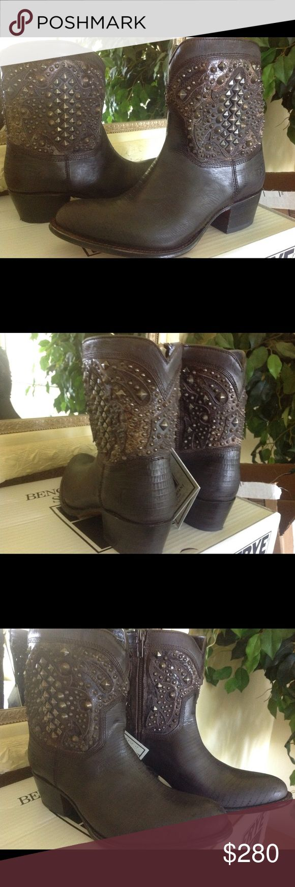 Frye Deborah Deco Boot Frye Deborah Deco Short Studded Dark Brown Leather Boots w/zip.  Brand new w/box.  No trades. Frye Shoes Ankle Boots & Booties