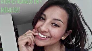dientes blancos en 4 minutos