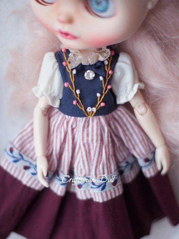 Blythe clothes Blythe dressLicca clothes Licca dressAzone clothes Azone dressOB24craftsmandoll