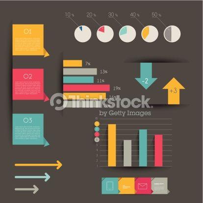 ベクトルアート : Minimalistic modern infographic folder.