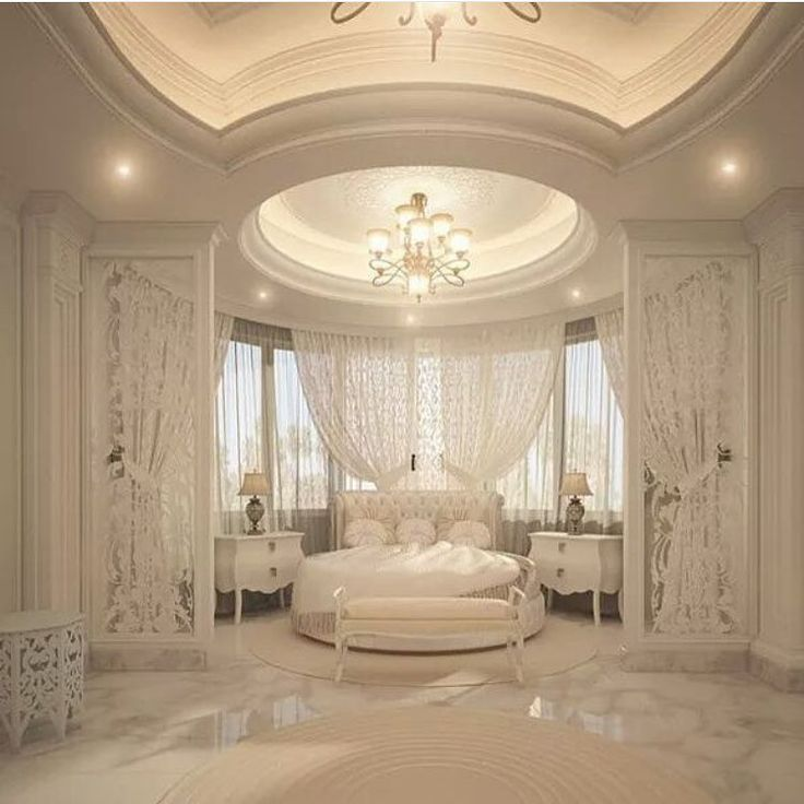 Grand Master Bedroom In The Round