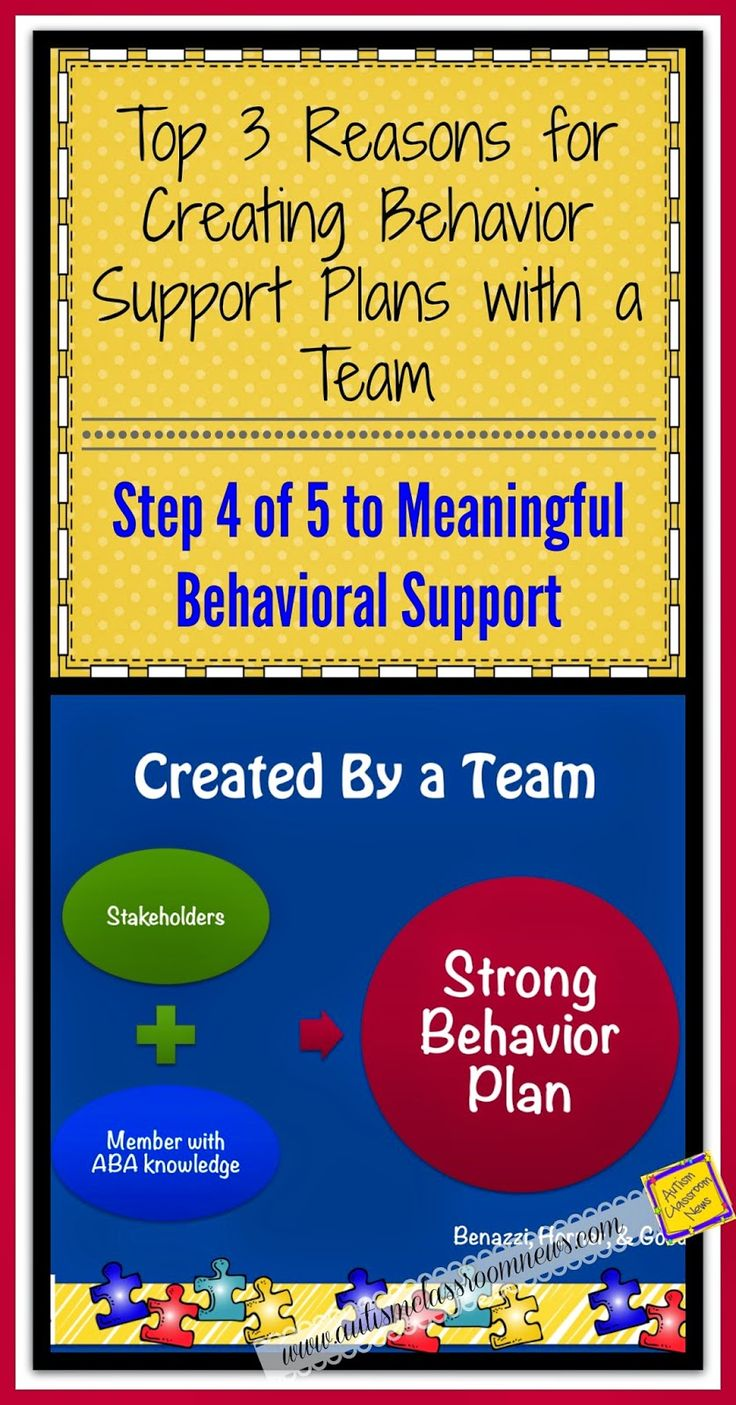 Top 3 Reasons for Creating Behavior Support Plans with a Team: Step 4 of 5 to Meaningful Behavioral Support by Autism Classroom News at http://www.autismclassroomnews.com